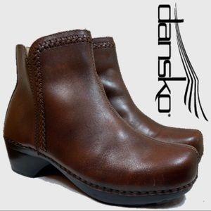 Dansko Side Zipper Leather Booties